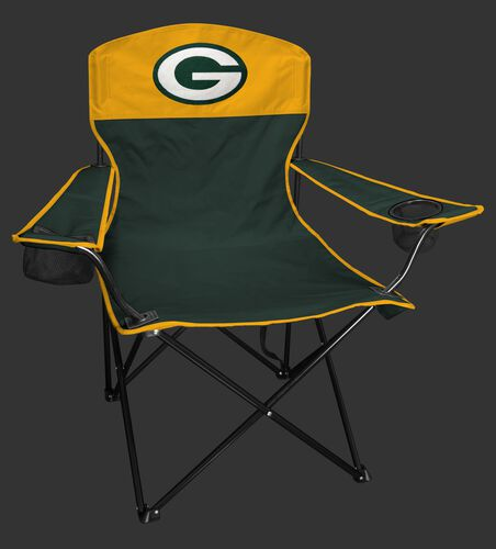 Front of Rawlings Green and Yellow NFL Green Bay Packers Lineman Chair With Team Logo SKU #31021068111