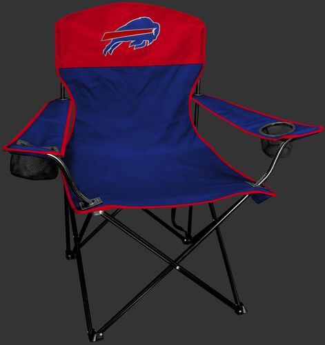 Front of Rawlings Red and Blue NFL Buffalo Bills Lineman Chair With Team Logo SKU #31021061111