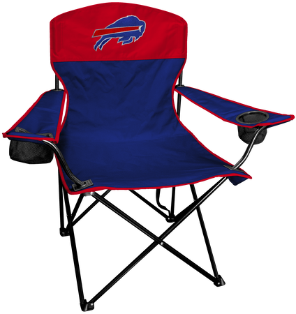 NFL Buffalo Bills Lineman chair with team colors and logo on the back