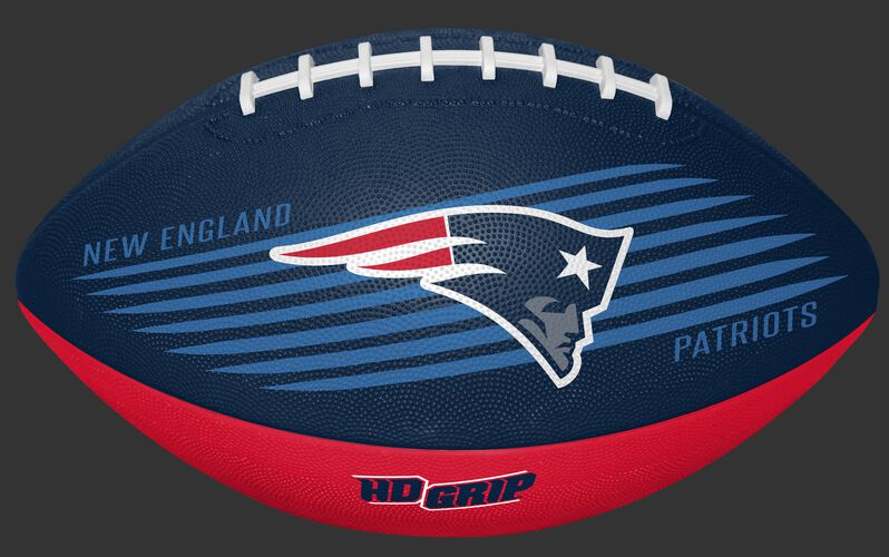 Navy and Red NFL New England Patriots Downfield Youth Football With Team Logo SKU #07731076121