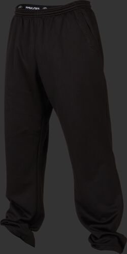 Front of Rawlings Black Adult Performance Fleece Pants - SKU #PFP