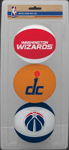 Rawlings Red, Brown, and White NBA Washington Wizards Three-Point Softee Basketball Set With Team Logo SKU #03524207114