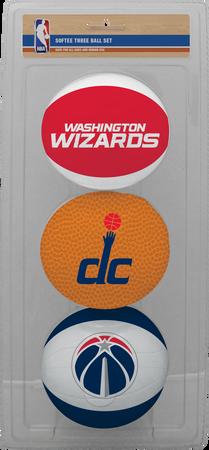 NBA Washington Wizards Three-Point Softee Basketball Set