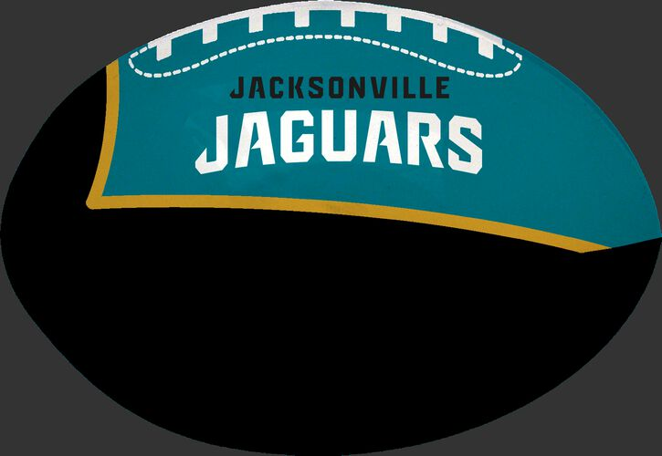 Black and Teal NFL Jacksonville Jaguars Football With Team Name SKU #07831091112