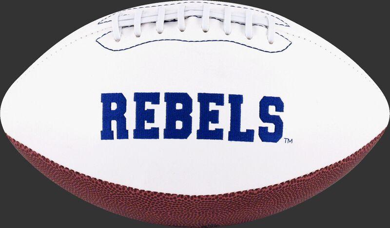 White NCAA Ole Miss Rebels Football With Team Name SKU #05733087121