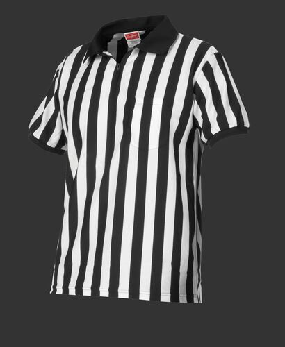 Front of Rawlings White/Black Adult Referee Football Jersey - SKU #ACAFTREF-W/B-88
