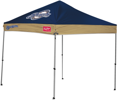MLB Milwaukee Brewers 9x9 canopy shelter with large team printed logo and team name on the sides