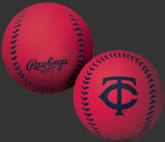 Rawlings Minnesota Twins Big Fly Rubber Bounce Ball With Team Logo on Front In Team Colors SKU #02870028112