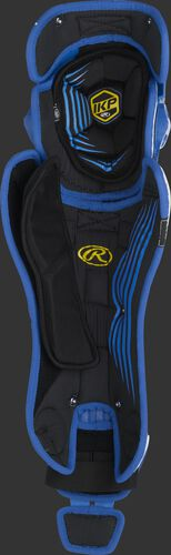 Inside padding of a royal Rawlings Mach leg guard - SKU: MCHLGA-R
