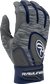 Heather grey 5150GBGY youth 5150 batting gloves with navy trim and wrist strap image number null