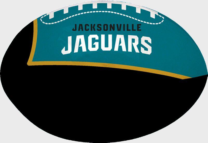 Black and Teal NFL Jacksonville Jaguars Football With Team Name SKU #07831091112