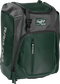 Front left angle of a dark green Rawlings Franchise bag with gray accents - SKU: FRANBP-DG image number null