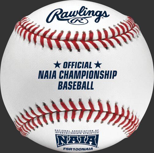 FSR100NAIA NAIA Flat seam baseball with the official NAIA logo