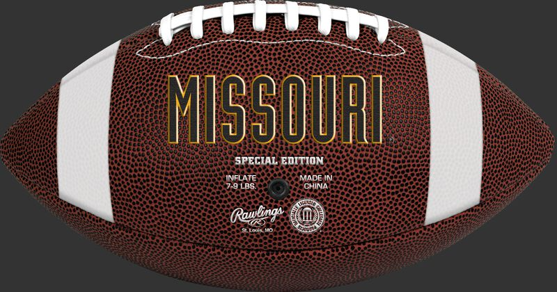 Brown NCAA Missouri Tigers Football With Team Name SKU #04623086811