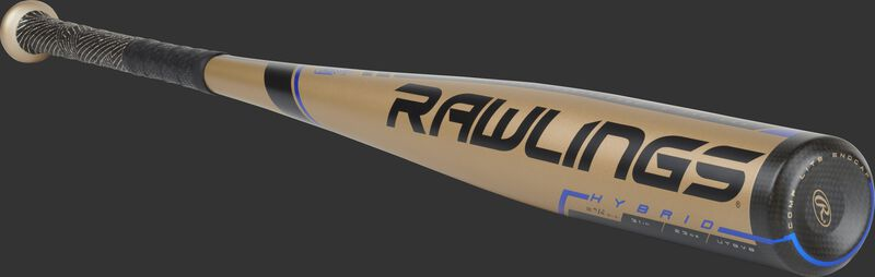 UT9V8 Rawlings USSSA -8 baseball bat with a gold barrel and black end cap