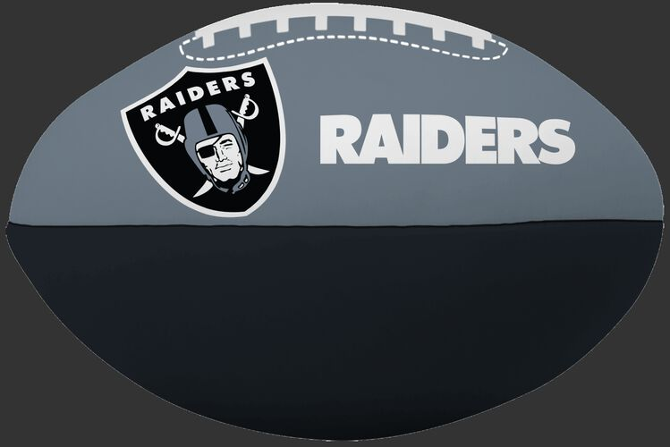 NFL Oakland Raiders Big Boy softee football in team colors with team logos SKU #03211072111