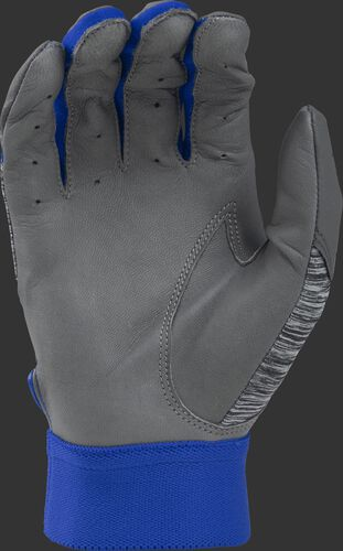 Grey palm of a grey/royal 5150GBGY youth 5150 bating glove