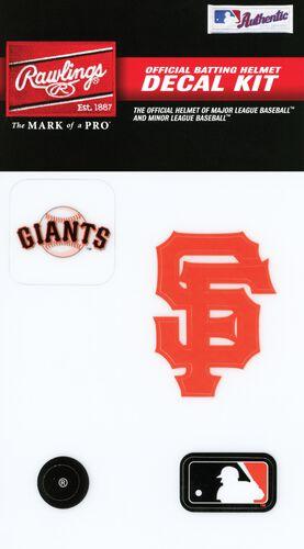 Rawlings MLB San Francisco Giants Decal Kit With Team Logos and MLB Logo SKU #MLBDC-SF
