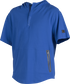 A royal Gold Collection short sleeve hoodie with a 1/4 zip and gray welded zipper pockets - SKU: GCJJ-R image number null