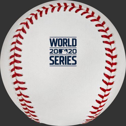 The 2020 World Series logo stamped on a MLB baseball - SKU: EA-WSBB20-R