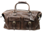 A brown Rugged duffle bag with 2 compartments on the front and leather handles - SKU: RS10023-200 image number null