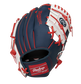 Back of a navy, white & red Minnesota Twins 10-Inch I-web glove with a red Rawlings patch - SKU: 22000028111 image number null