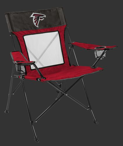 Front of Rawlings Grey and Red NFL Atlanta Falcons Game Changer Chair With Team Logo SKU #00651060111