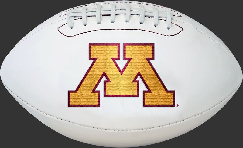 White NCAA Minnesota Golden Gophers Football With Team Logo SKU #05733085811