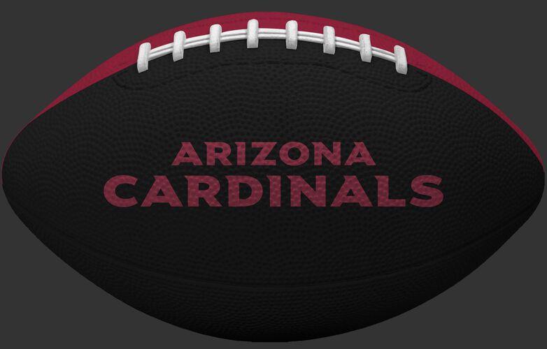 Black side of an Arizona Cardinals Gridiron tailgate football and team name SKU #09501081121