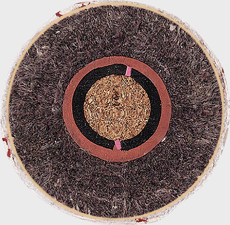 Cutaway showing the center cork of a Rawlings Dixie youth baseball - SKU: RDYB