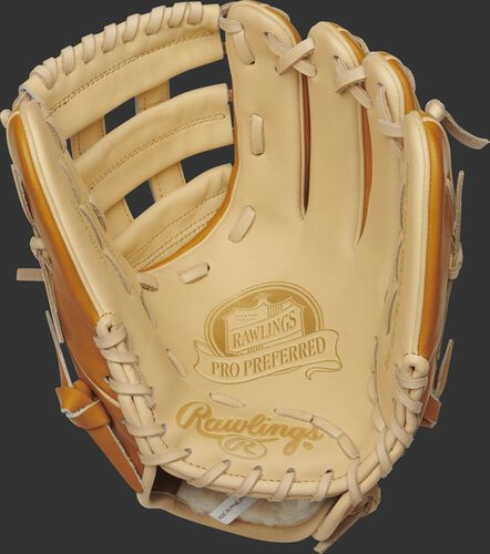 PROS204-6CT 11.5-inch Pro Preferred infield glove with a camel palm and camel laces
