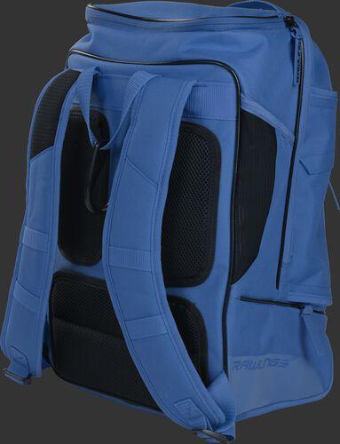 Back right view of a royal R701 Rawlings baseball backpack