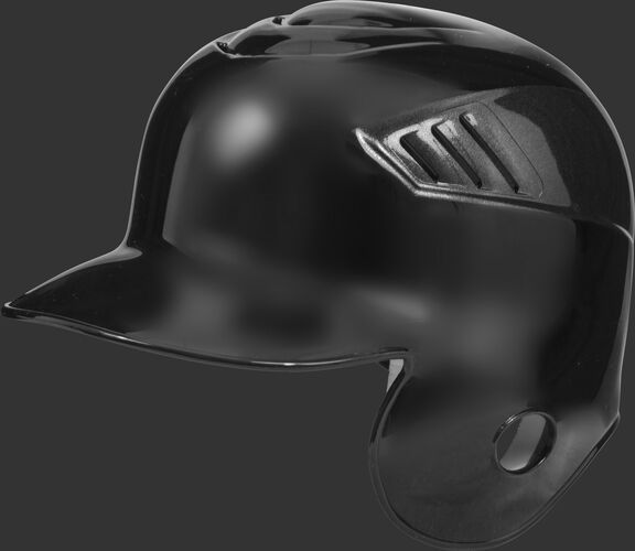 A black CFSEL Coolflo single flap batting helmet for right handed batters