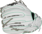 White fingers of a Rawlings HOH softball glove with ocean mint binding/welting - SKU: PRO716SB-18WM image number null