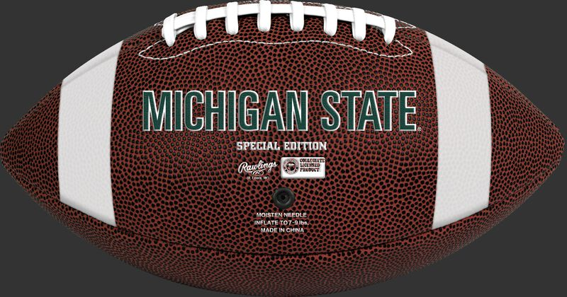 Brown NCAA Michigan State Spartans Football With Team Name SKU #04623038811