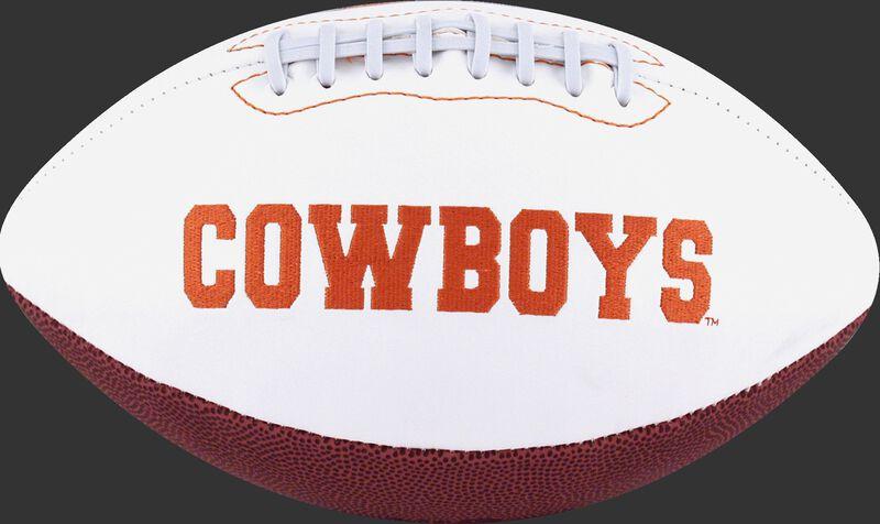 White NCAA Oklahoma State Cowboys Football With Team Name SKU #05733044121