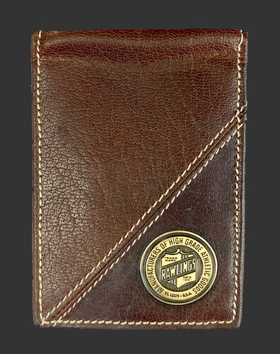 Inside of a Buffalo Voyager front pocket wallet with a coin emblem on the bottom right corner - SKU: MW497-202