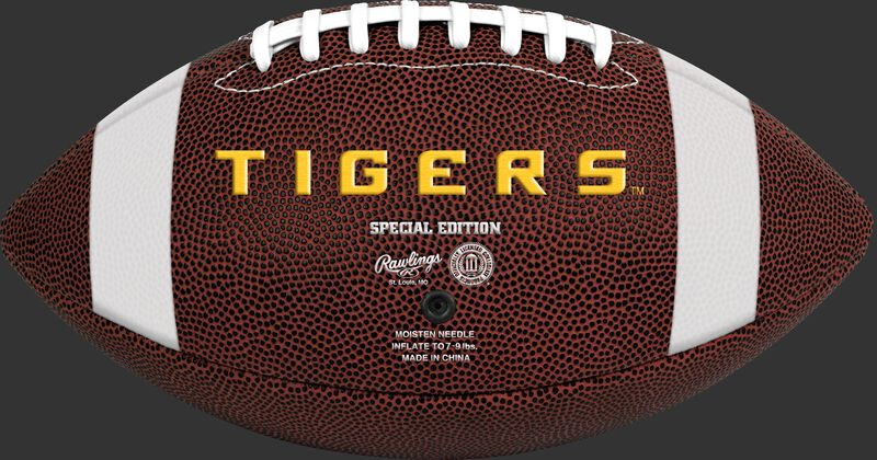 Brown NCAA LSU Tigers Football With Team Name SKU #04623035811