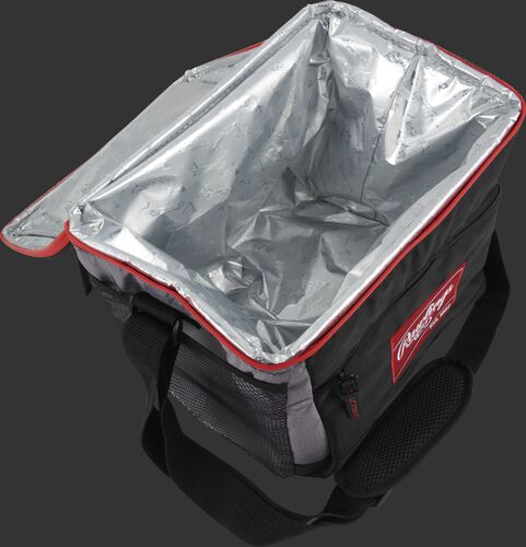 On open Rawlings 24 can cooler with silver lining on the inside - SKU: 10224043511