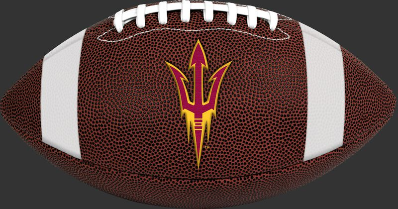 Brown NCAA Arizona State Sun Devils Football With Team Logo SKU #04623001811