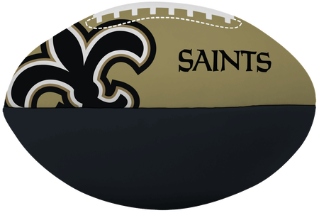 NFL New Orleans Saints Big Boy softee football printed in team colors and features team logos