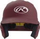 Front of a matte maroon MACH junior size batting helmet image number null
