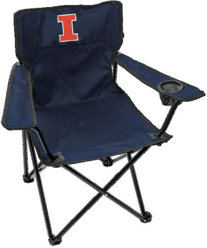 Front of Rawlings Navy Blue NCAA Illinois Fighting Illini Gameday Elite Chair With Team Logo SKU #00563029111