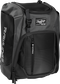 Front left angle of a black Rawlings Franchise bag with gray accents - SKU: FRANBP-B image number null