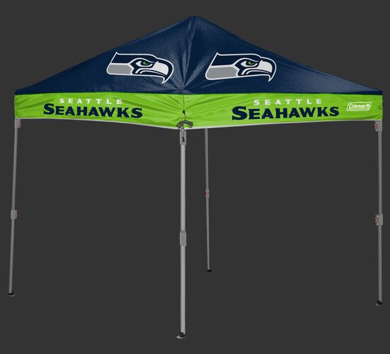 Rawlings Bright Green and Navy NFL Seattle Seahawks 10x10 Shelter With Team Logo and Name SKU #03221085111