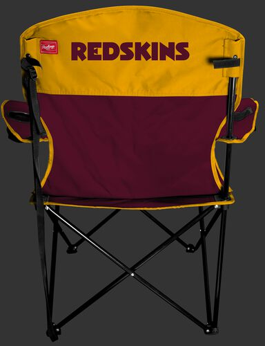 Back of Rawlings Maroon and Yellow NFL Washington Redskins Lineman Chair With Team Name SKU #31021087111