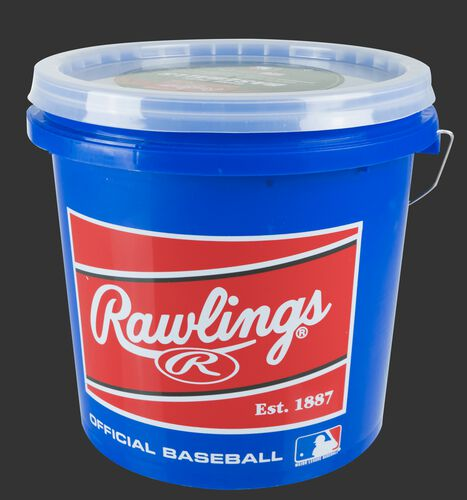 Blue R12UBUCK24 bucket of 12U game balls
