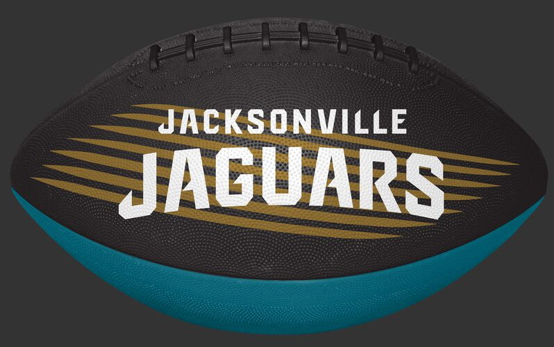 Black and Teal NFL Jacksonville Jaguars Downfield Youth Football With Team Name SKU #07731091121