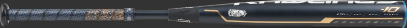 FPPE10 Rawlings fastpitch softball bat with a black barrel and rose gold accents