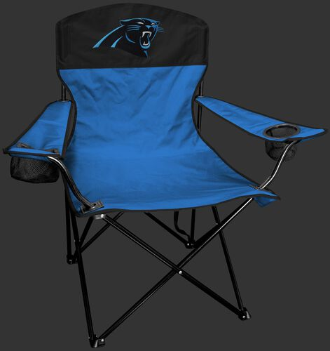 Front of Rawlings Blue and Black NFL Carolina Panthers Lineman Chair With Team Logo SKU #31021090111
